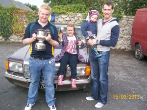 Clare Shout Winners Martin Madden and Aoibheann Meere with  Clare's Captain, Patrick Donnellan