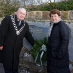 PJ Ryan lays a wreath at Glenwood on behalf of Mayor of Clare with Noreen Ryan