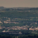 Ennis- Cathedral, Old Ground, Dunnes Stores, Museum etc from Knockanuarha or Twelve O'Clock Hills