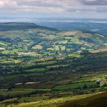 Broadford Valley and Shannon and Fergus Estuaries from Craggnamurragh