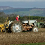 Clare Ploughing Championship Kilkishen 2006. The Ploughman looks so determined.