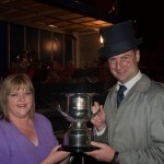 7111 Sharon Canny winner Clare Shout Festival 2012 receiving Tim Donnellon trophy from 'Dev' (Adrian Hogan)