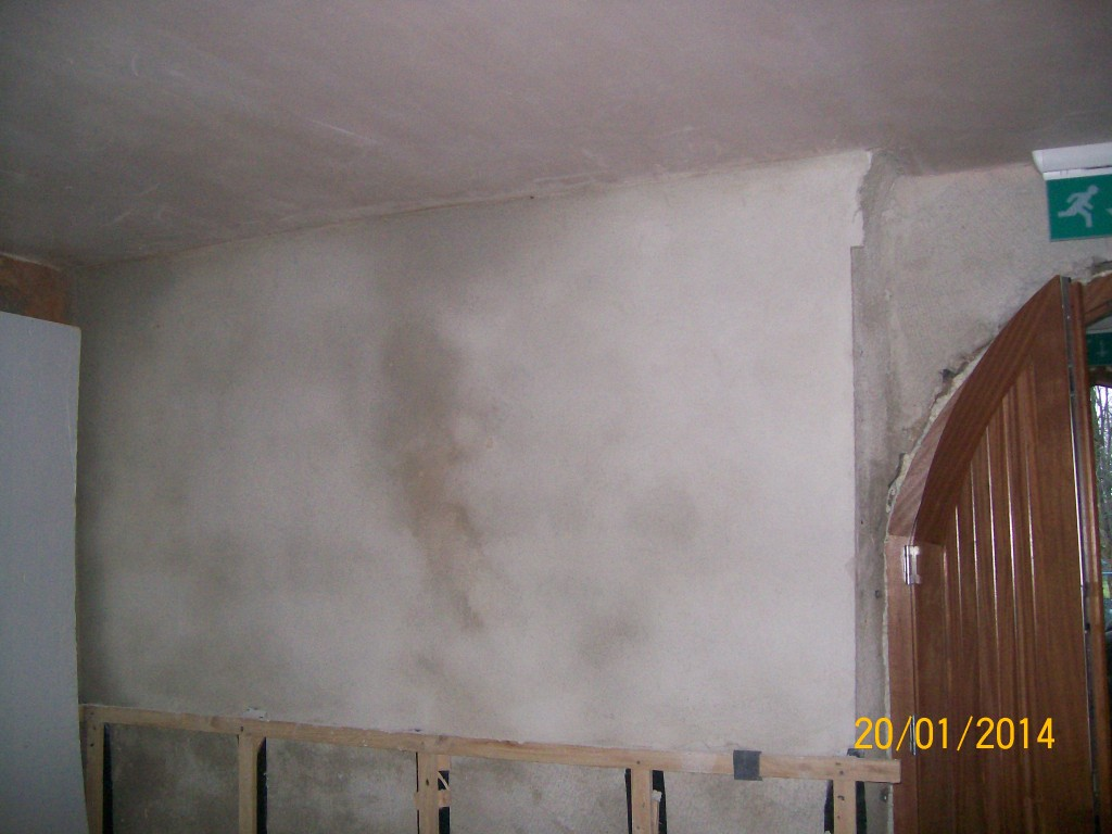 Completed internal lime plastering