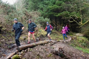 Dixie, Mike, Mark, Deirdre and Loretto testing out the coarse for Sundays Run.