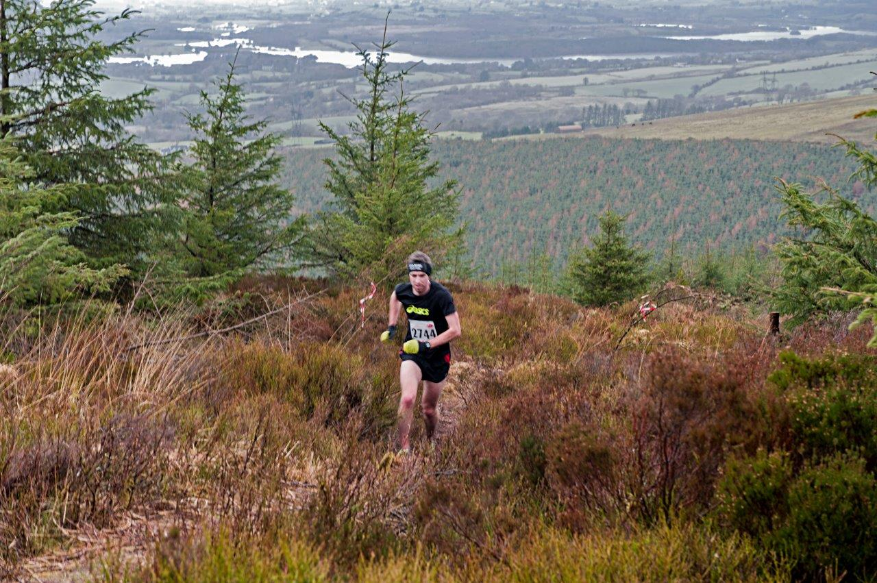 Peter Fennell Togher, Co Cork the overall winner of the 5k Mountain Challenge 2014 in a time of 25mins 39secs Photographs courtesy of John Power