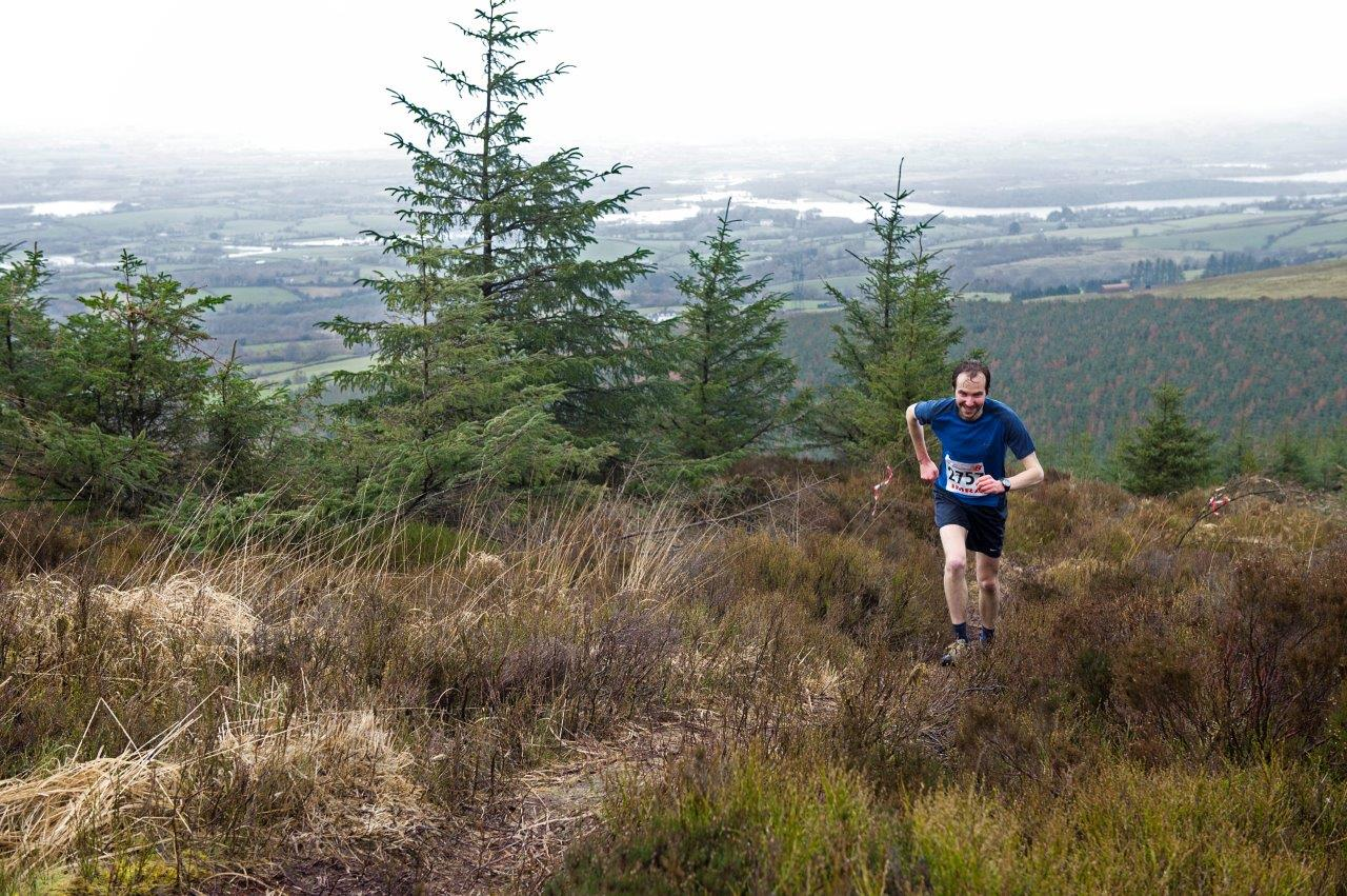 John Hannon Sixmilebridge in 3rd place position, 5K Mountain Challenge 2014 in a time of 28mins 13secs. Photograps courtesy of John Power