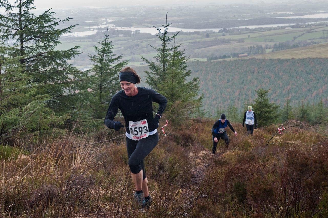 Deirdre Finn Killaloe the Lady's winner of the 5K Mountain Challenge 2014.  Photographs courtesy of John Power