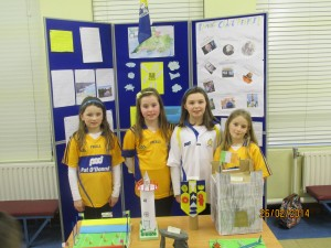 Community Games 2014 U11 Girls display their project