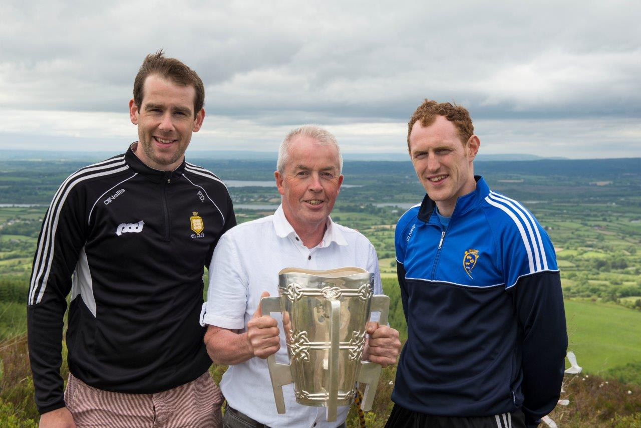 Pat Donnellan, Patsy Neville, Conor Cooney with Liam McCarthy Cup on Knockanuarha