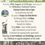 Poster for Heritage Walk 28Aug16