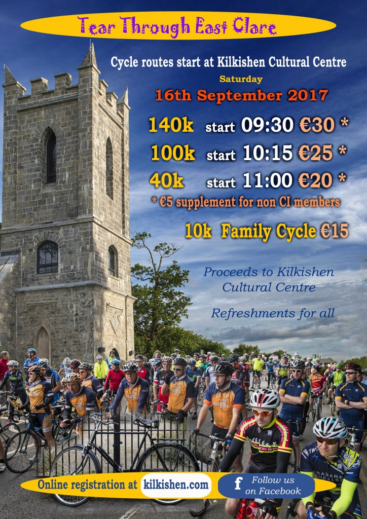 Tear Through East Clare Cycle 2017 poster
